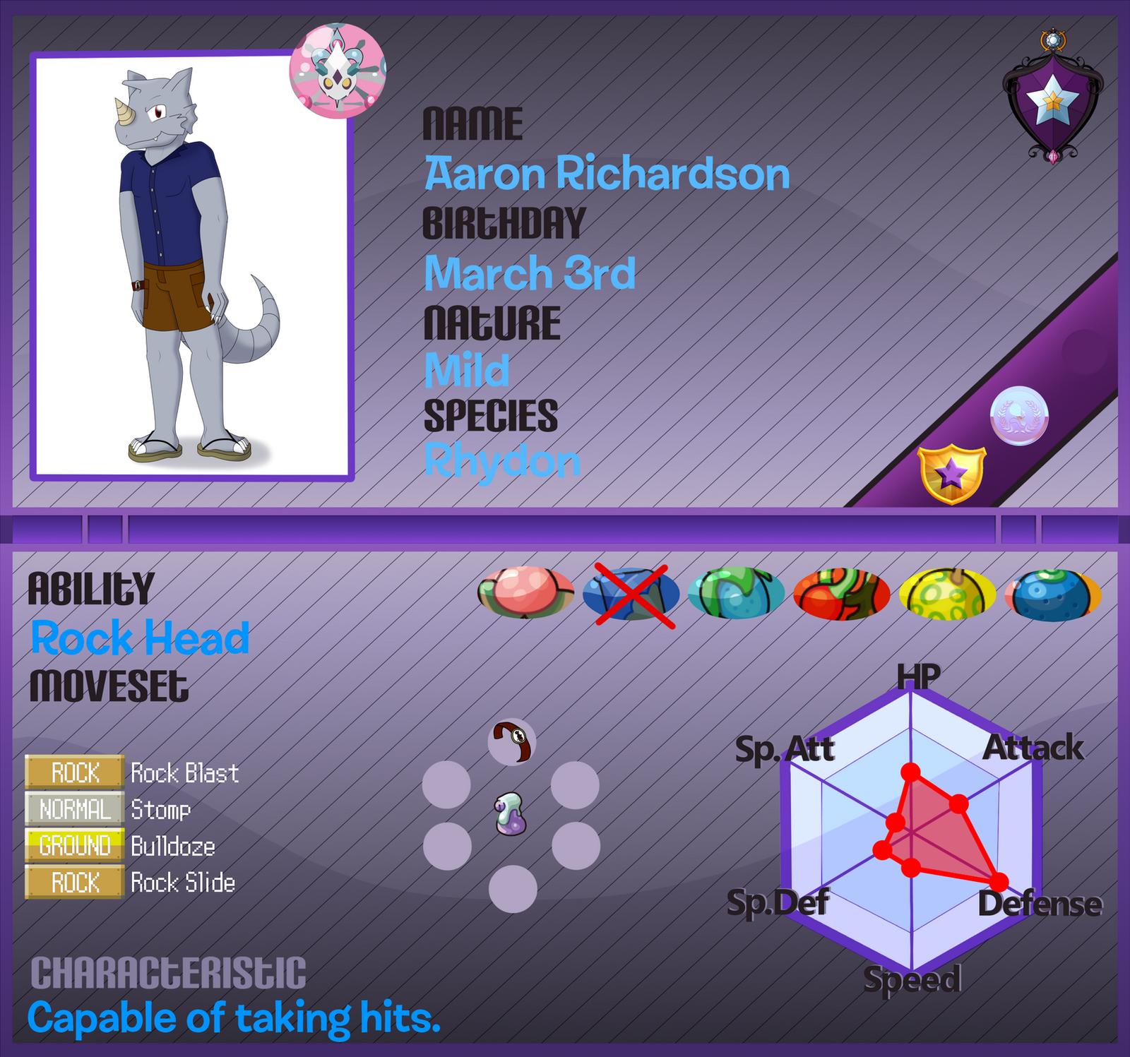 Aaron the Rhydon- Pokemon Armonia App by Anko6