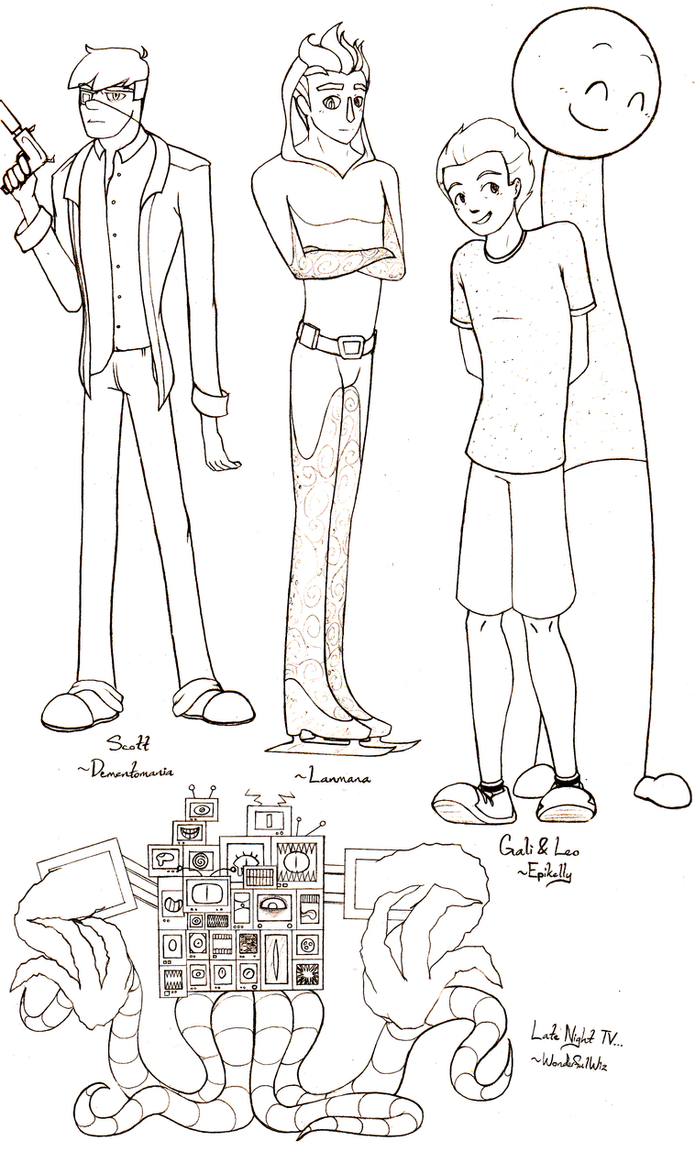 Character Design Challenge Reference : Character design challenge prizes by anko on deviantart