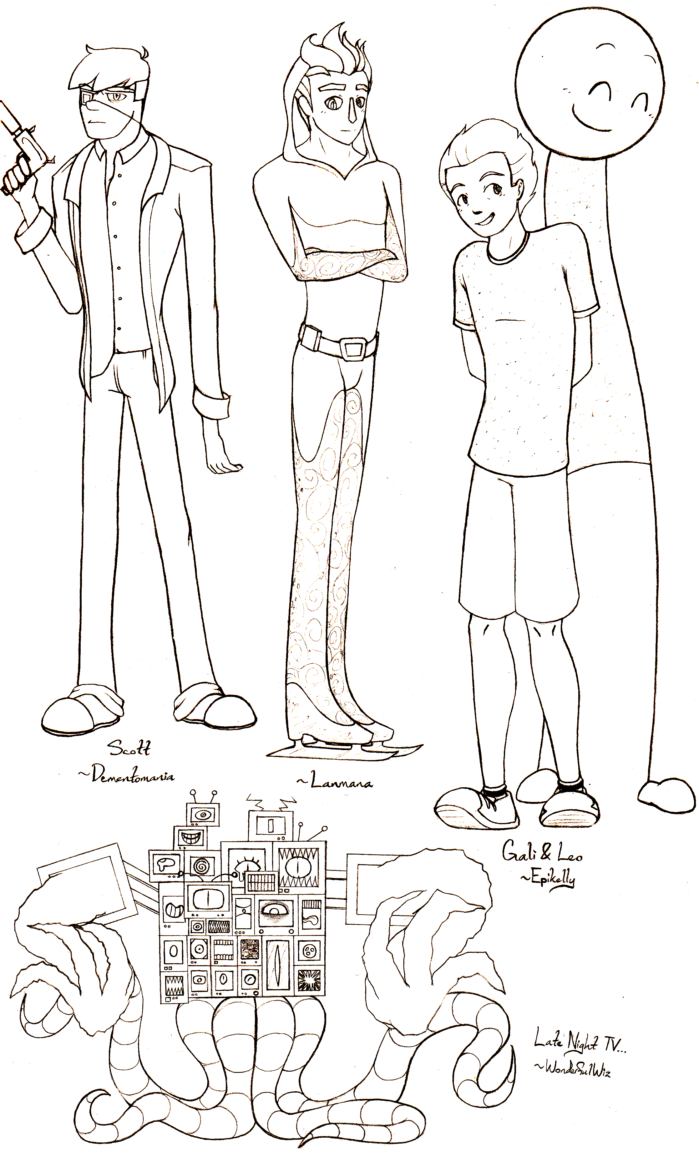 Character Design Challenge : Character design challenge prizes by anko on deviantart