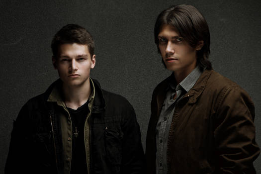 Dean Winchester and Sam Winchester cosplay promo