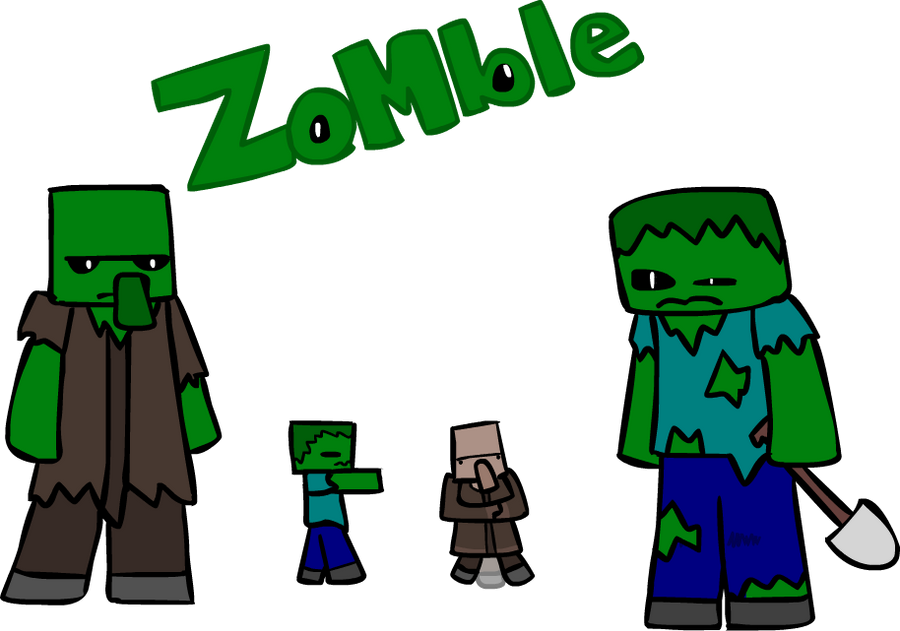 Minecraft zombie and villager zombie by starman omega on - Zombie style minecraft ...