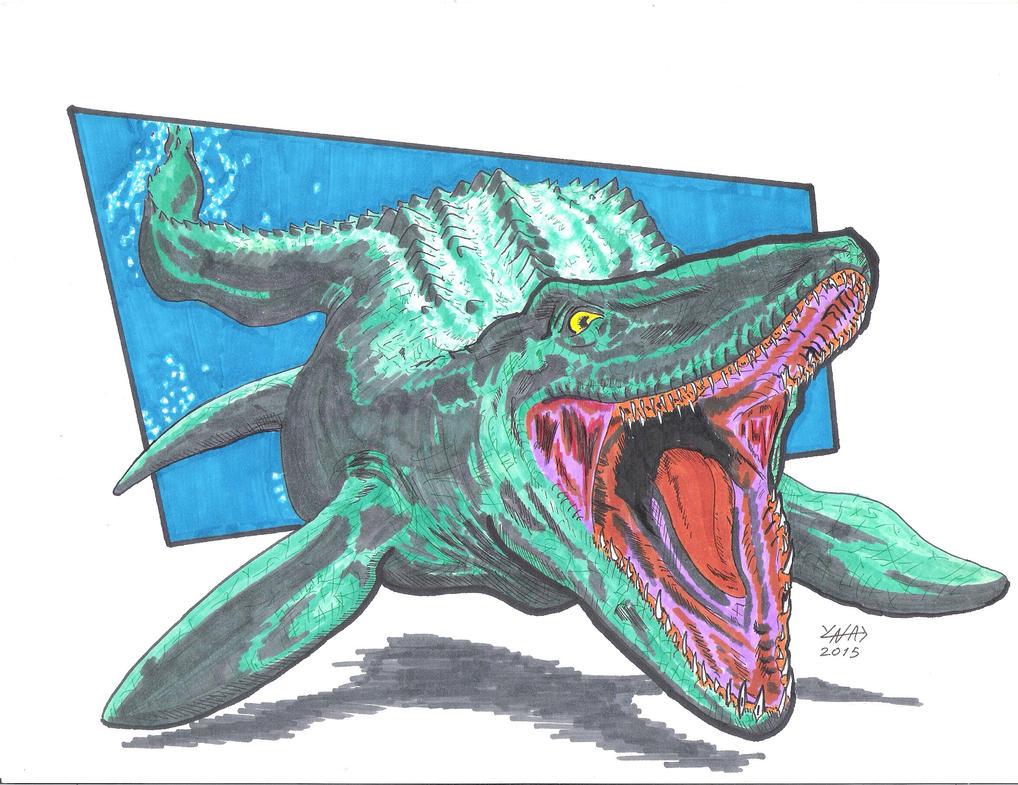 Mosasaurus by YNAD009