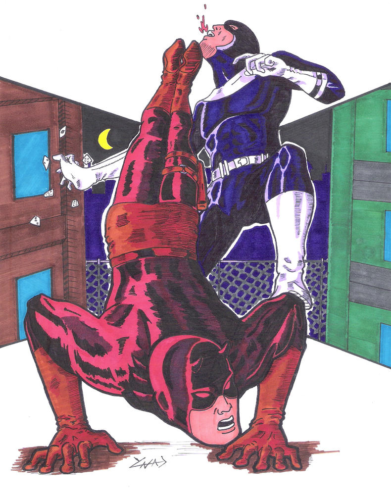 Daredevil Vs Bullseye by YNAD009