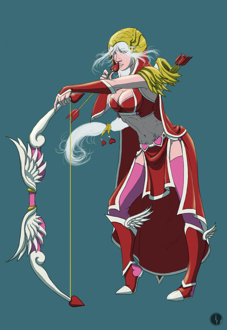 Heartseeker/Cupidon Ashe - Color WIP 1 by Noctume on ...