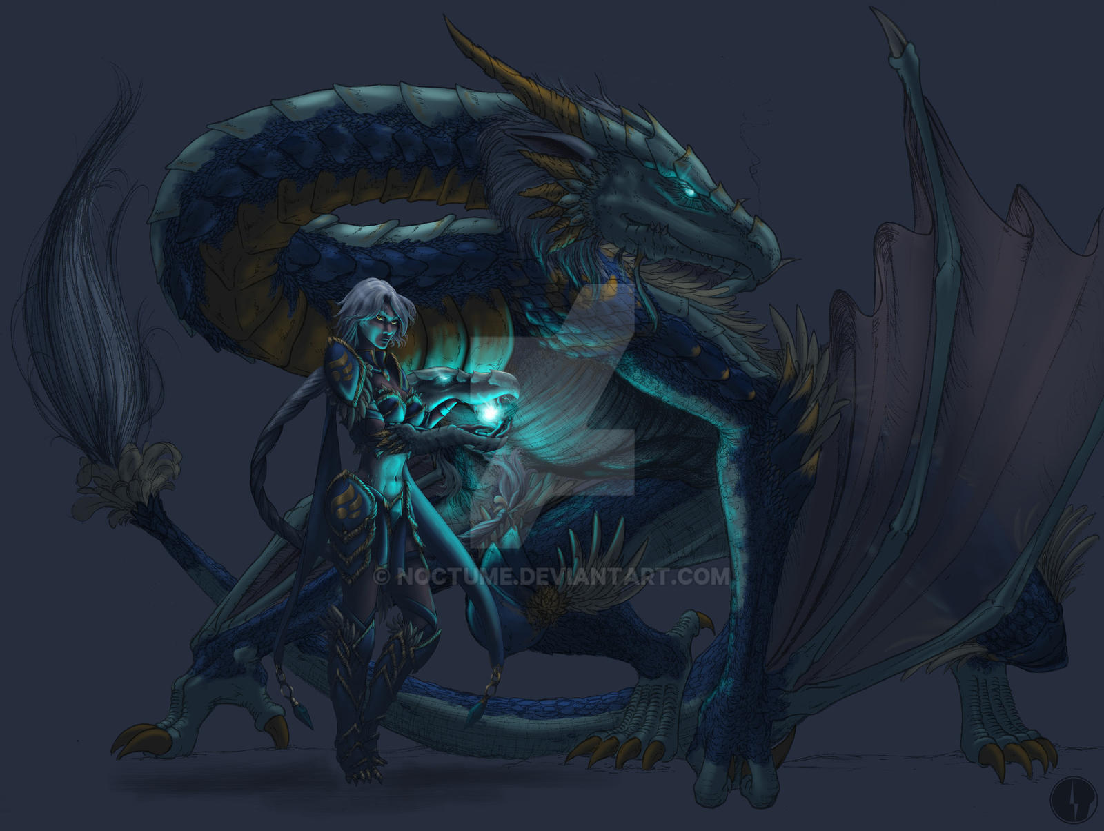 Sky Dragon Shyvana - Dragonic Form - Color WIP1 by Noctume on ...