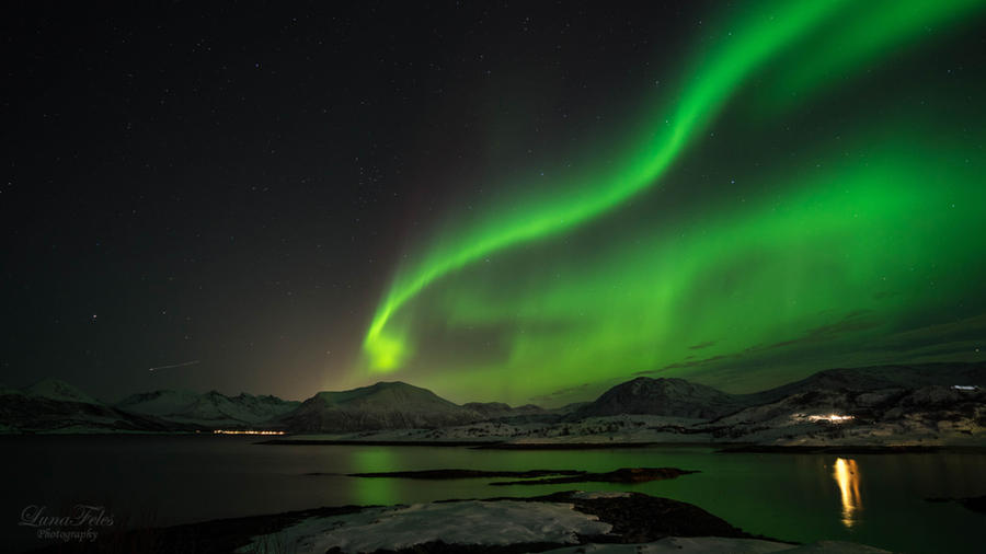 Aurora Borealis - Sommaroy by LunaFeles