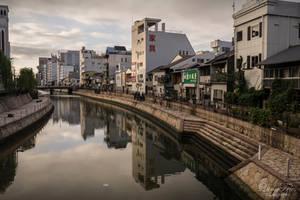river in Fukuoka by LunaFeles