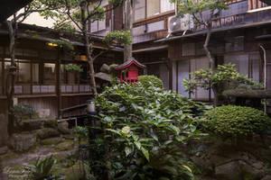 Garden of the ryokan by LunaFeles