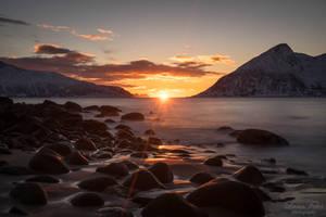 sunset in Rekvik by LunaFeles