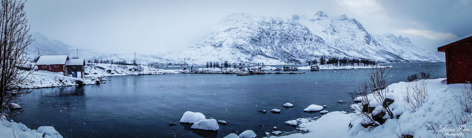Ersfjordbotn - it's snowing by LunaFeles