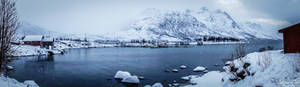 Ersfjordbotn - it's snowing