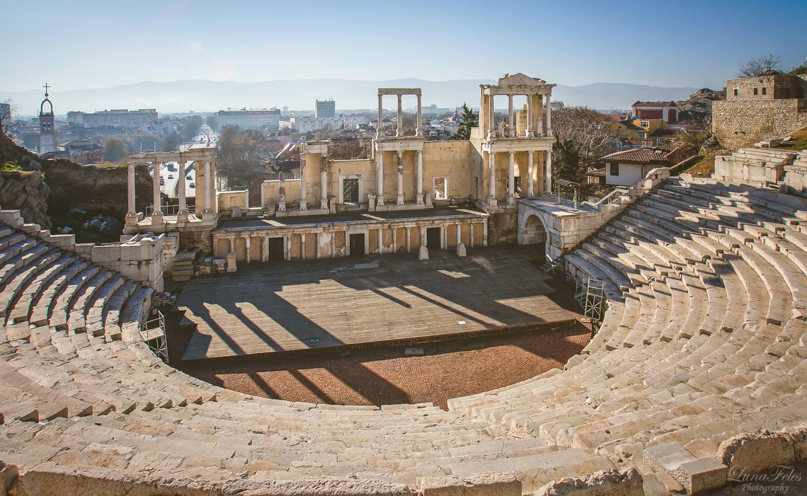 roman theatre of Plovdiv. by LunaFeles