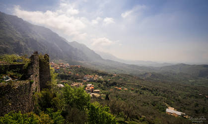 mountainscape of Kruja