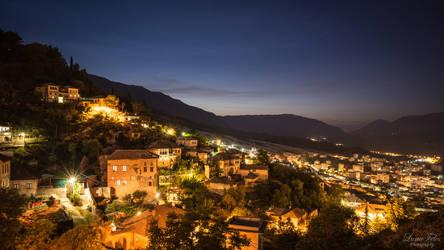 Gjirokastra at night
