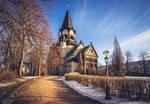 Lutherkirche - winter sun