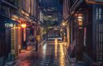 streets of Kyoto - rainy night