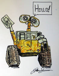 Wall-e Marker and water color by anad
