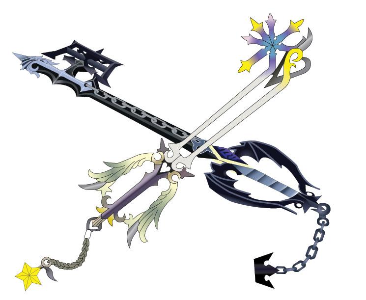 Oblivion and Oathkeeper Keyblades (Roxas Weapons) Roxas__s_Keyblades_by_YenSid_kun