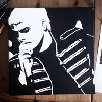 Gerard Way pop art painting by the-house-of-w0lves