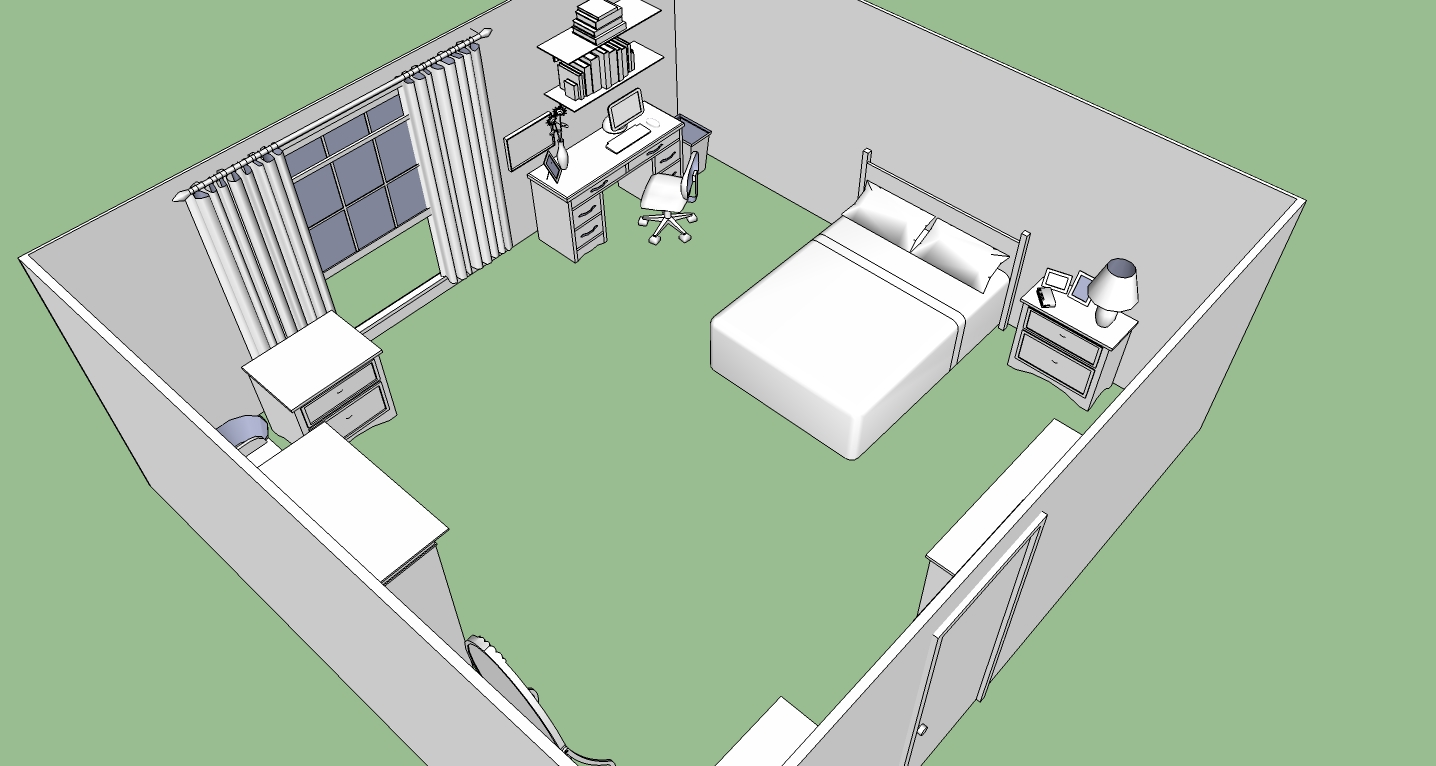 Maydays Bedroom 1 SketchUp By Spidertour02 On DeviantArt
