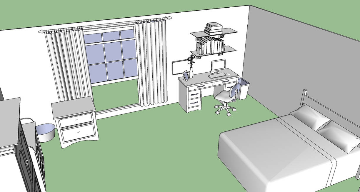 Mayday S Bedroom 5 Sketchup By Spidertour02 On Deviantart