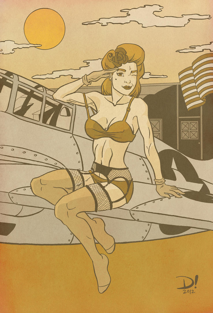 WWII Pinup Girl Alternate Colors by spidertour02