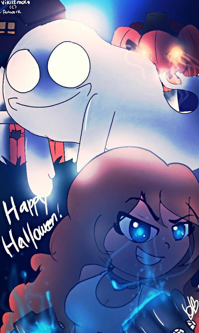 .:Happy Derpish-Ghoulish Halloween!: Contest Entry by viki12rocks