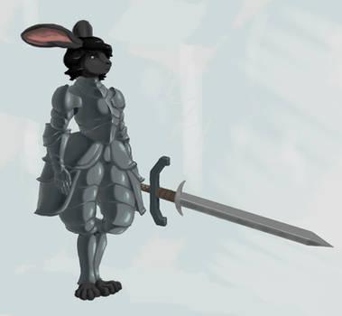 Rabbit Knight by MaxTheBerzerker