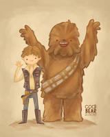 Han Solo and Chewie by CodiBear