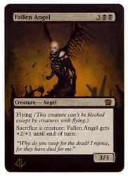 MTG Alter - 8E Fallen Angel by derfington