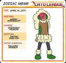 Lato Zodiac Zahara by ObsidianWolf7