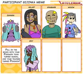 Lato Gijinka Zahara Team by ObsidianWolf7