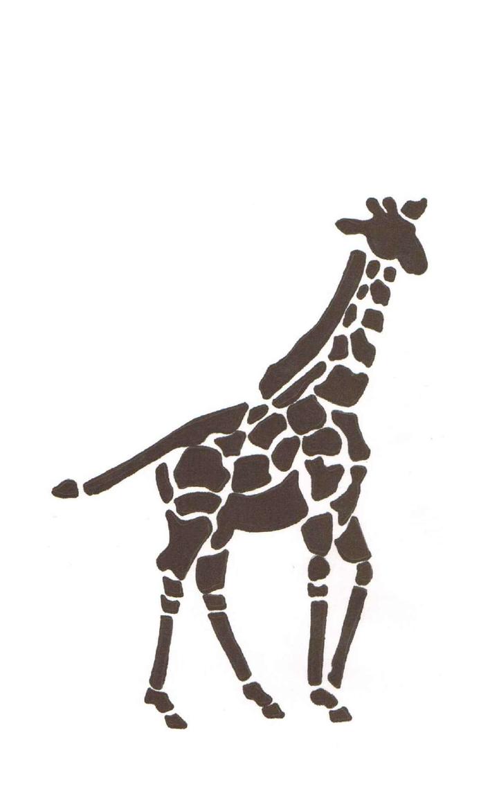 Giraffe stencil pumpkin