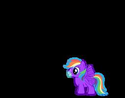 Tubby Rainbow dash free adoptable
