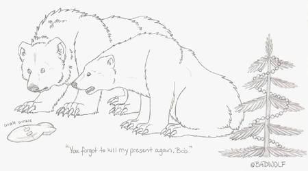 Christmas Bears by The-Badwolf