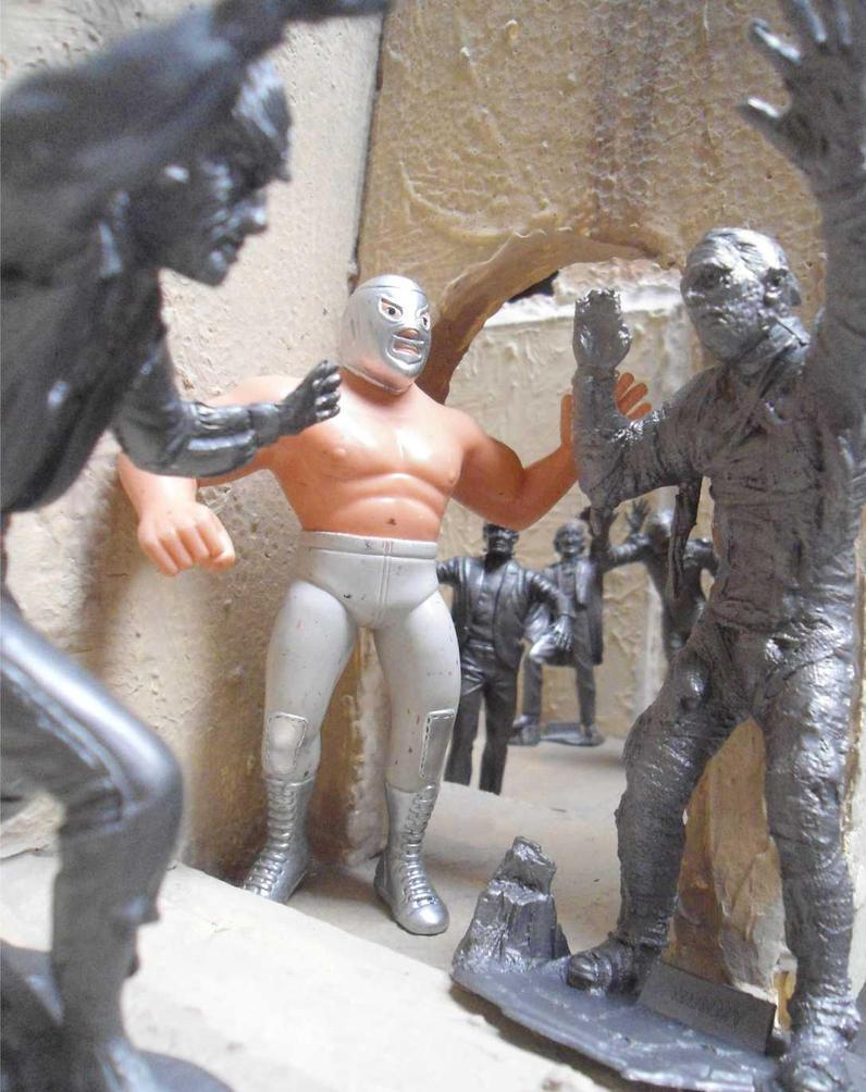 Santo vs Los Monstruos by egocenter