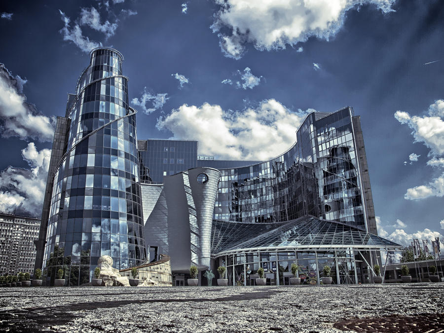Polish television building by HeretyczkaA