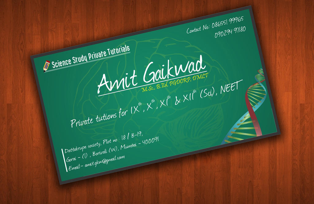 Educational Visiting Card by chandan20j on DeviantArt