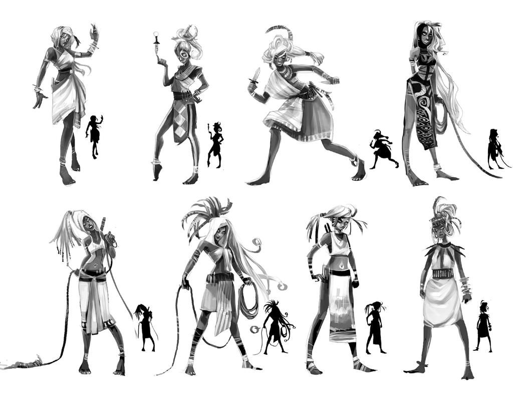 Character Design Concept : Ssonya project character design by sillyjellie on deviantart