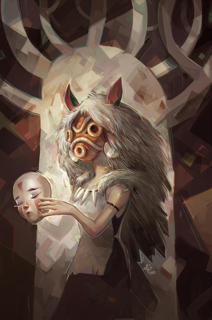 Princess Mononoke by SillyJellie on DeviantArt