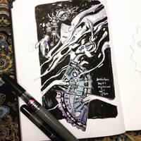 INKtober day 15   mysterious. by SillyJellie