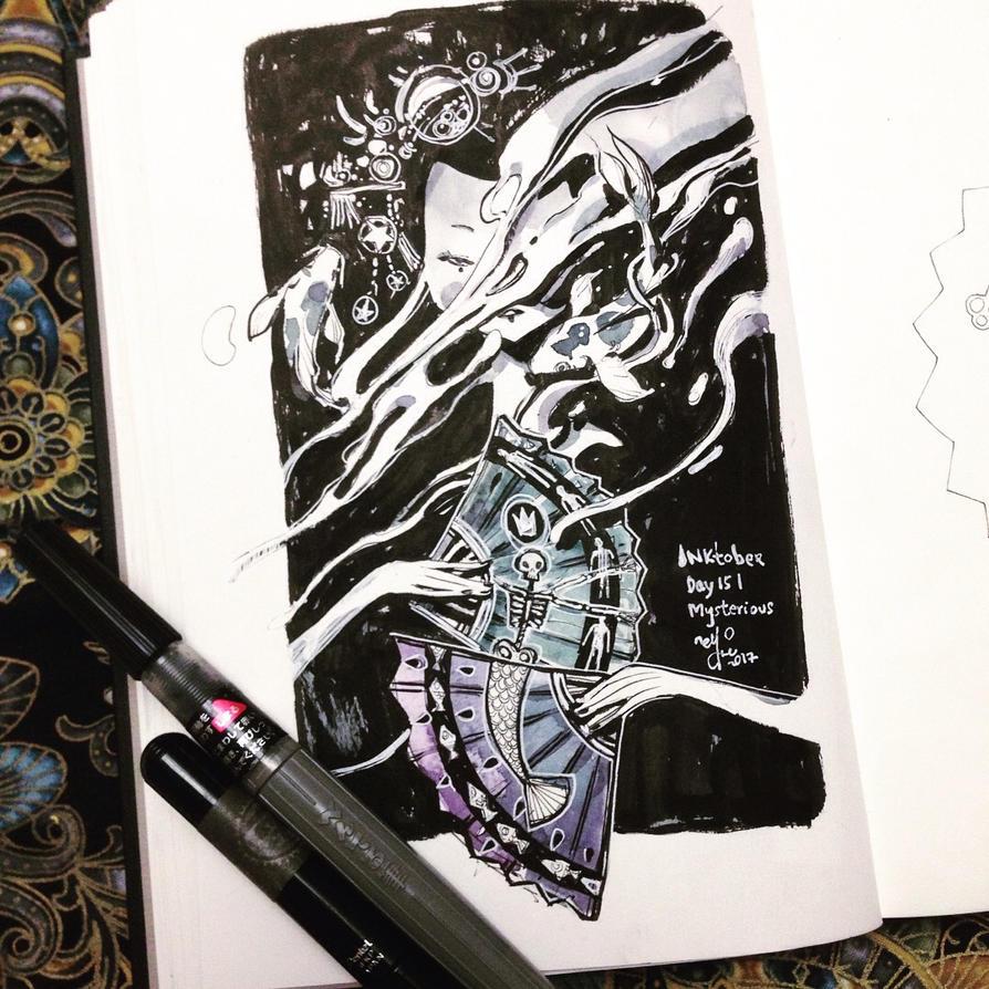 INKtober day 15 | mysterious. by SillyJellie