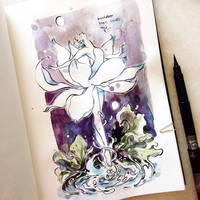 INKtober day 17  Graceful (v1) by SillyJellie