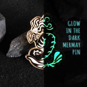 Glow in the dark Mermay enamel pin