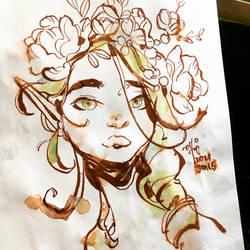 Sketch: Watercolour Fairy