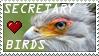 Secretary bird support by Da-Lizzard