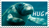 Manatee hug stamp by Da-Lizzard