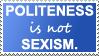 Politeness stamp