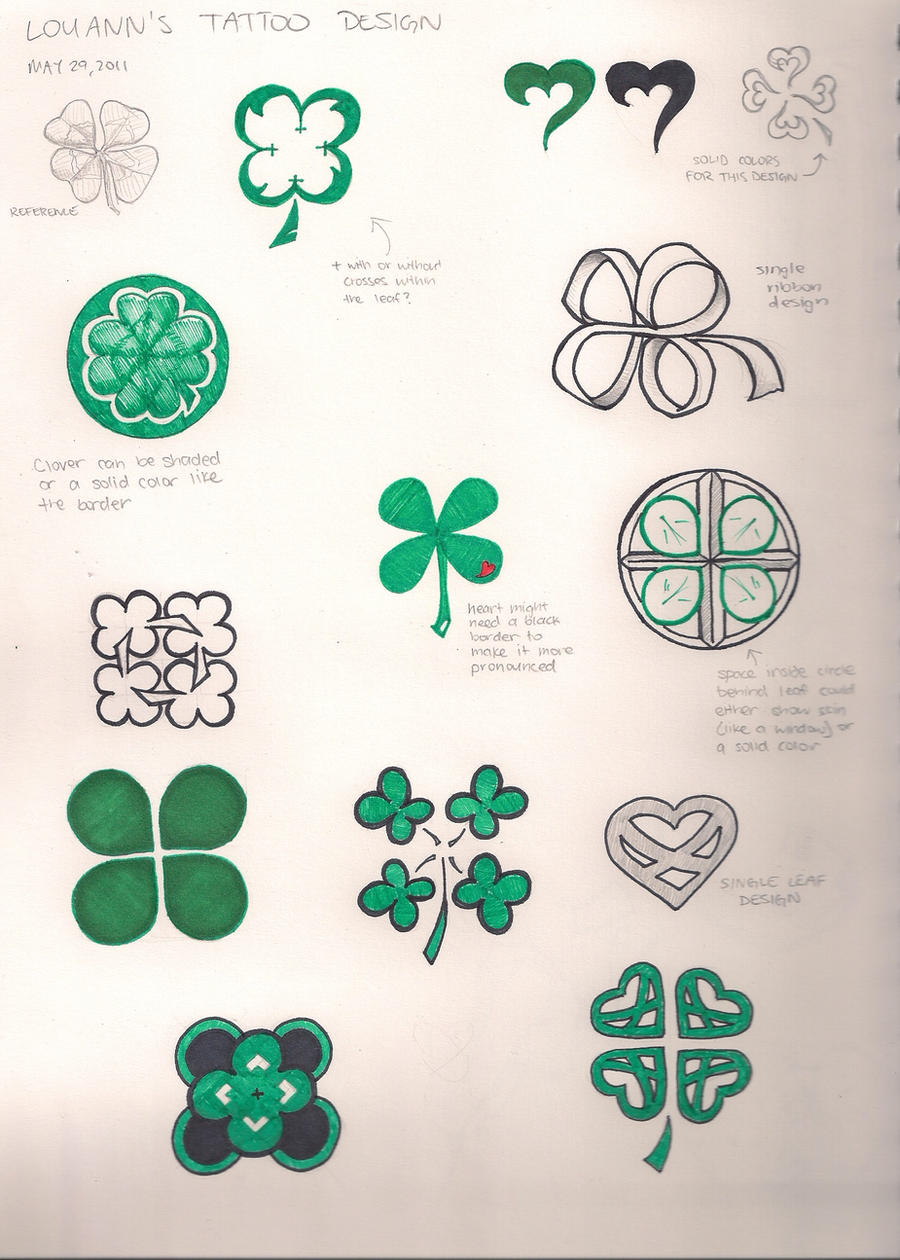 Clover tattoo designs by pajairv on deviantart