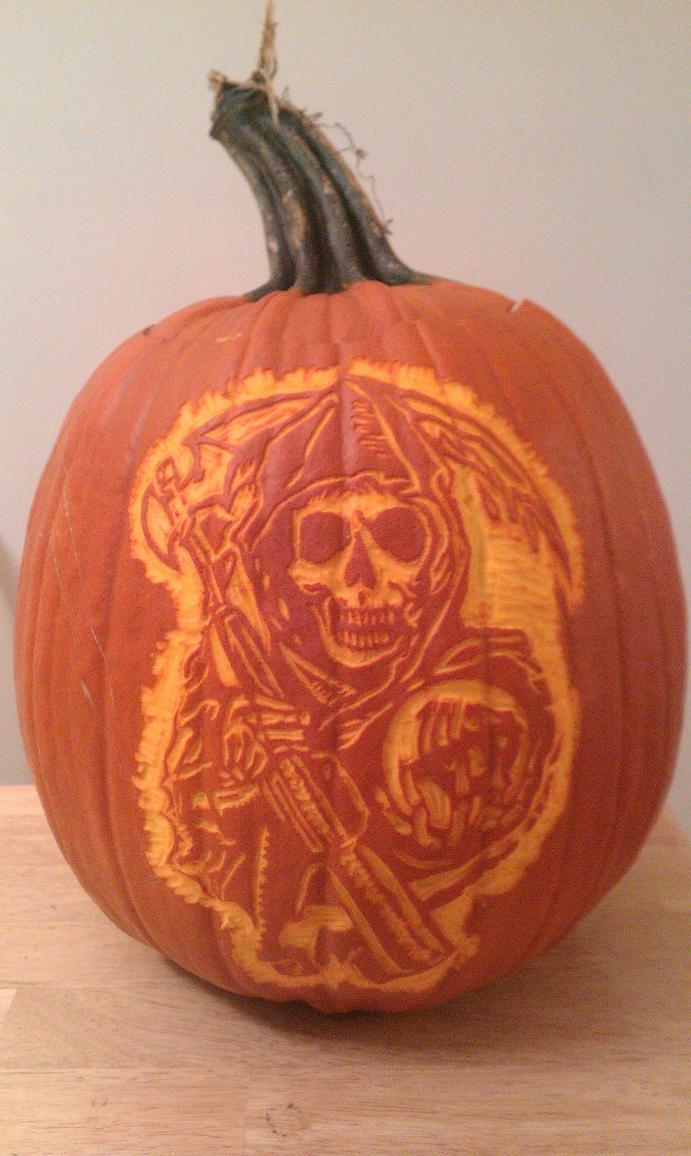 Pumpkin SAMCRO logo by PajaIrv
